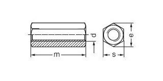 DE LONG 6HR mat. M8x40 Pz