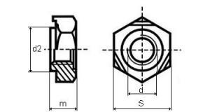 MATICE přivařovací M10 Bpú